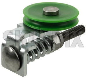 Tension Roll, Window winder lower Kit  (1068999) - Volvo 120 130 220, PV - tension roll window winder lower kit winder tensioner winder tensioning window lifter pulleys window regulator windowregulator windowwinder skandix front kit lower
