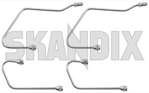 Brake lines set Front axle outer for both sides  (1069043) - Volvo 120 130 220, P1800, P1800ES - 1800e brake lines set front axle outer for both sides p1800e Own-label      2  2circuit 2 circuit axle both brake caliper disc drivers for front hose left outer passengers right side sides
