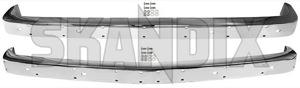 Stoßstange vorne hinten Edelstahl poliert Satz  (1071014) - Volvo 140 - 142 144 145 frontstossstangen heckstossstangen p140 p142 p144 p145 stossfaenger stossstange stossstange vorne hinten edelstahl poliert satz stosstange stosstangen skandix edelstahl hinten hinterer inox nichtrostender nirosta poliert rostfrei rostfreier satz set stahl stainless steel v2a va vastahl vorderer vorne