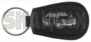 Key fob Volvo 122 black  (1071091) - universal  - key fob volvo 122 black key sleeve Own-label 122 40 40mm 65 65mm black metal mm vinyl volvo
