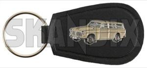 Key fob Volvo Amazon Wagon brown  (1071095) - universal  - key fob volvo amazon wagon brown Own-label 40 40mm 65 65mm amazon brown metal mm vinyl volvo wagon