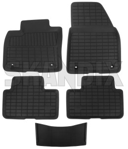 Floor accessory mats Synthetic material black charcoal 31470948 (1071290) - Volvo XC40 - floor accessory mats synthetic material black charcoal Genuine black bowl charcoal drive for hand left lefthand left hand lefthanddrive lhd mat material plastic synthetic vehicles