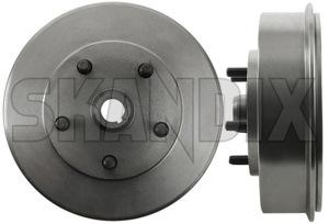 Brake drum Rear axle 673797 (1071305) - Volvo 120 130 220, P1800, PV - 1800e brake drum rear axle p1800e Own-label axle hub rear with