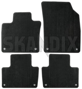 Floor accessory mats Velours charcoal 32262186 (1072678) - Volvo XC90 (2016-) - floor accessory mats velours charcoal Genuine 5 charcoal drive flat for hand left lefthand left hand lefthanddrive lhd mat vehicles velours