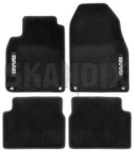Floor accessory mats Textile black