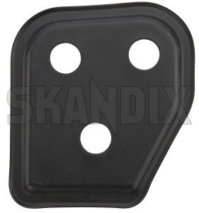 Cover, Locking Backseat bench left 1310313 (1074498) - Volvo 700, 900 - cover locking backseat bench left Genuine black left
