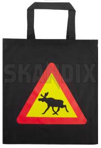 Bag Elk Warning black Cotton  (1075756) - universal  - bag elk warning black cotton shopping bags Own-label black cotton elk elksign moosesign sign trafficsign warning warningsign