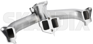 Manifold, Exhaust system silk chromed 419728 (1075824) - Volvo 140, P1800, P1800ES - 1800e manifold exhaust system silk chromed p1800e skandix /    cast castiron chromed double gray grey iron manifold new part silk styling tube tuning