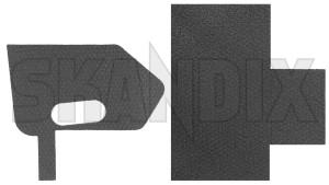 Gasket, Door lock front left 31416308 (1075854) - Volvo S80 (2007-), V70 (2008-), XC60 (-2017), XC70 (2008-) - gasket door lock front left seals Genuine front left
