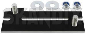 Repair kit, Bumper reinforcement front left  (1076158) - Volvo 200 - brick bumper bars bumpers rails crashbar fender brackets reinforcements repair kit bumper reinforcement front left repair solution set support carriers skandix front left
