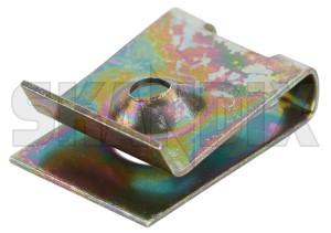 Sheet nut 4,8 mm Radiator fan Dashboard 1268957 (1076605) - Volvo 700, 850, 900, C70 (-2005), S70 V70 (-2000) - nuts plate nuts sheet nut 4 8 mm radiator fan dashboard sheet nut 48 mm radiator fan dashboard sheetmetal nuts sheet metal nuts Genuine 4,8 48 4 8 dashboard fan mm radiator