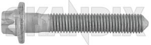 Bolt, Mount Shock absorber lower Rear axle 11102381 (1076728) - Saab 9-3 (2003-) - bolt mount shock absorber lower rear axle screws shocks Genuine axle locking lower needed rear screw