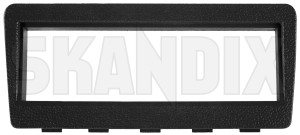 Mounting frame for Car radio black 1384579 (1076901) - Volvo 200 - brick mounting frame for car radio black mounting panel radio aperture radio installation frame skandix black car centre console for lower radio