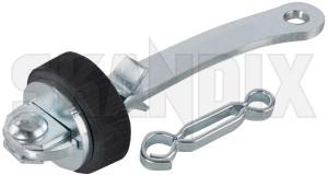 Door catch Kit 664256 (1076927) - Volvo P1800, P1800ES - 1800e door catch kit doorbrakes doorstops p1800e stops skandix for front kit one side