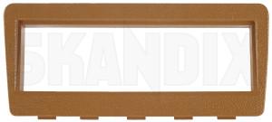 Mounting frame for Car radio beige  (1078776) - Volvo 200 - brick mounting frame for car radio beige mounting panel radio aperture radio installation frame skandix beige car centre console for lower radio