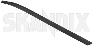 Trim moulding, Glas Windscreen right A-pillar plastic coated black stainless  (1079108) - Volvo V70 P26, XC70 (2001-2007) - trim moulding glas windscreen right a pillar plastic coated black stainless trim moulding glas windscreen right apillar plastic coated black stainless window scraper skandix apillar a pillar black clips coated for plastic rail right roof stainless vehicles windscreen with without