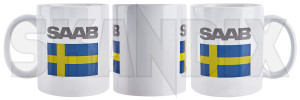 Cup Swedish flag SAAB  (1079734) - Saab universal - cup swedish flag saab Own-label banner china flag saab sverige sweden swedish white