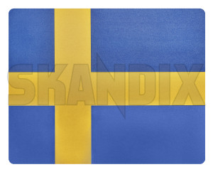 Mousepad Swedish flag  (1079833) - Volvo universal - mousemats mousepad swedish flag mousepads Own-label 19 19cm 24 24cm banner blueyellow blue yellow cm flag material plastic sverige sweden swedish synthetic