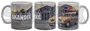 Tasse Saab 96  (1080254) - universal  - kaffeebecher kaffeetasse sammeltasse tasse saab 96 trinkbecher trinktasse Hausmarke 96 einzelkarton mit porzellan saab sichtfenster