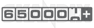 Sticker 650000+ high milage transparent platinum  (1080303) - universal  - decals label sticker 650000 high milage transparent platinum Own-label 150 150mm 23,7 237 23 7 23,7 237mm 23 7mm 650000 650000 650000  high milage mm platinum transparent