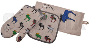 Kitchen set Elk multicoloured  (1080967) - universal  - at home bake cook gas stove heat protection kitchen set elk multicoloured stove washing up zeranfeld Own-label elk glove holders multicolored multicoloured oven pot tea towel with